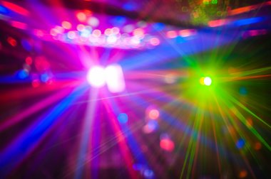 Color disco club light with special effects and laser show