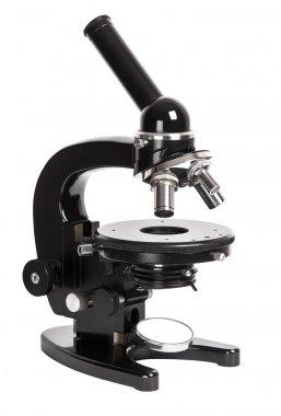 Retro black microscope
