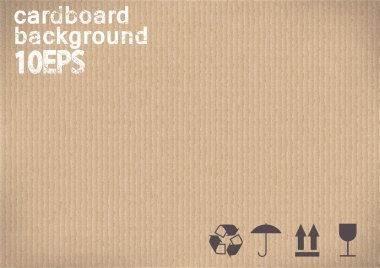 Cardboard background.vector illustration
