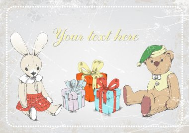 Rabbit, Teddy bear, gifts