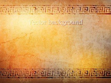 Antique golden wall