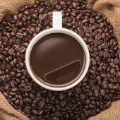 csésze forró kávé szemes kávé