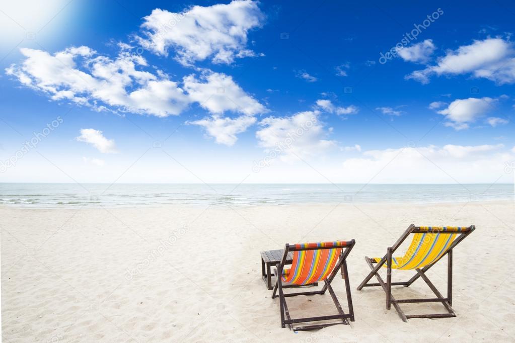 Beach Chairs On Beach
