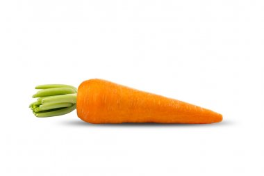 Fresh Carrot on White