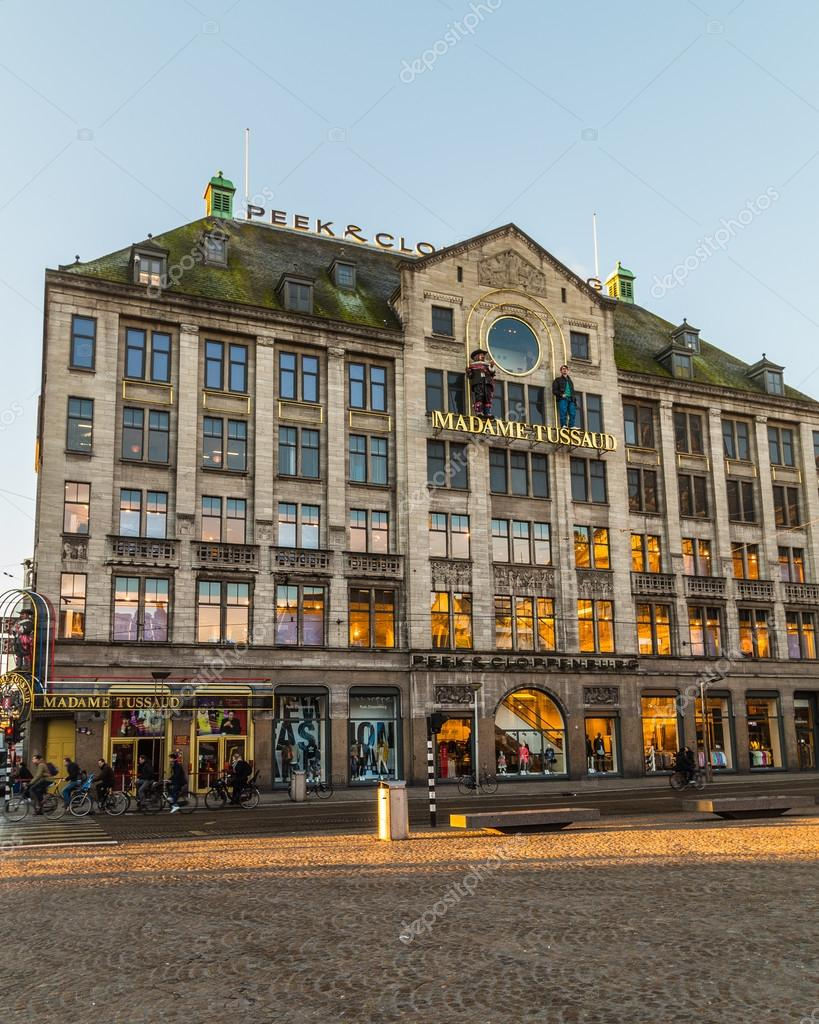 d501fba6d15783 Peek   Cloppenburg and Madame Tussaud Building in Amsterdam – Stock ...