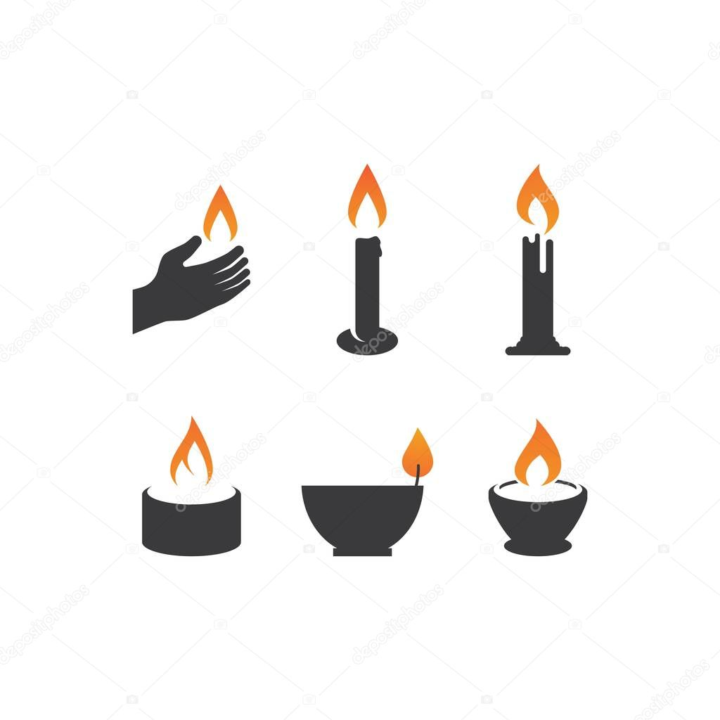 Candle icon in flat design vector icon