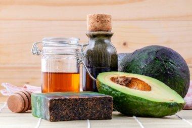 Alternative skin care  and scrub fresh  avocado , oils , honey