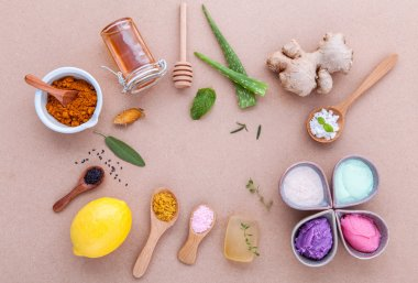 Alternative skin care and homemade scrubs with natural ingredien