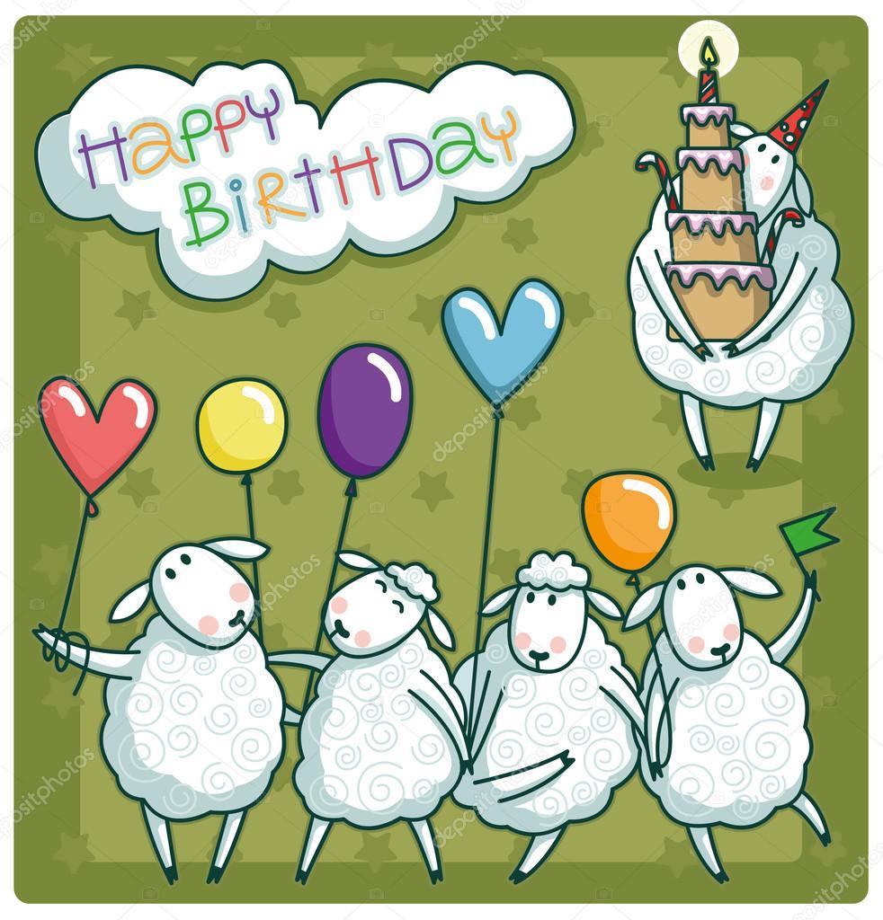 купить картинки барашка с днем рождения подойти задаче творчески