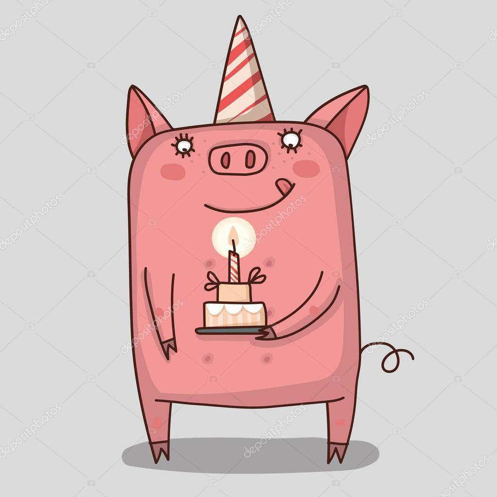 豚かわいいベクトルのイラストレーター ストックベクター