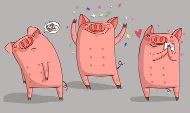 Cute pig character