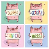 Fotografie Danke, dass Sie in Sprachen auf der ganzen Welt