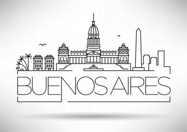 Buenos Aires City Skyline with Typographic Design