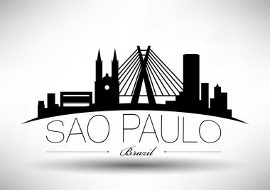 Sao Paulo City Skyline Design