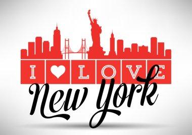 I Love New York Typography Design