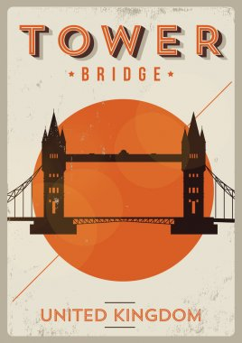 Tower Bridge Poster Illustration