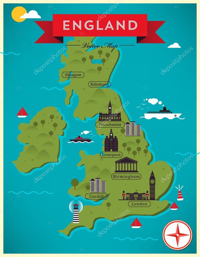 Карта великобритании картинки для детей