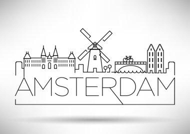 Amsterdam City Line Silhouette