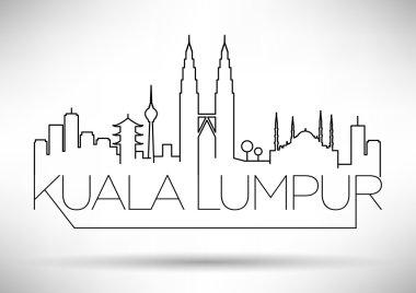 Kuala Lumpur City Line Silhouette