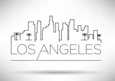 Los Angeles City Line Silhouette Typographic Design, vector illustration stock vector