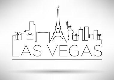 Las Vegas City Line Silhouette