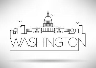 Washington D.C. City Line Silhouette