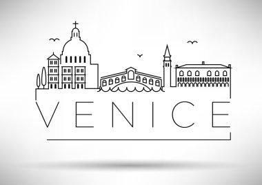 Venice City Line Silhouette