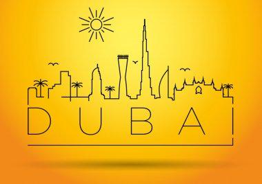 Dubai Line Silhouette