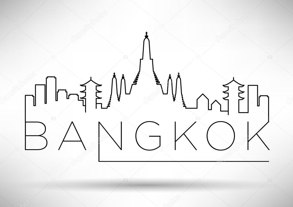 Bangkok City Line Silhouette