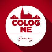 Fotografie Köln Skyline mit typografische Gestaltung