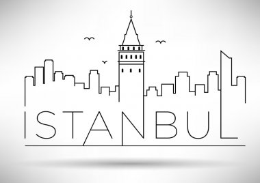 Istanbul City Line Silhouette