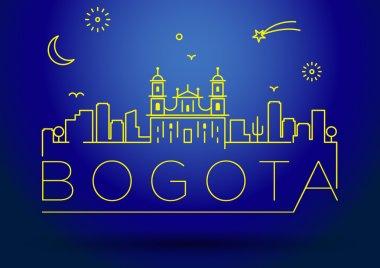Bogota City Line Silhouette