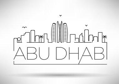Abu Dhabi City Line Silhouette