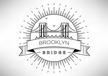 Brooklyn Bridge Icon Design