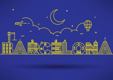 Barcelona City Typography Design