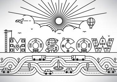 Moscow City Typography Design
