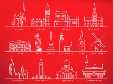 fourteen european cities landmarks