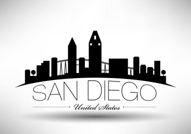 san diego skyline icon