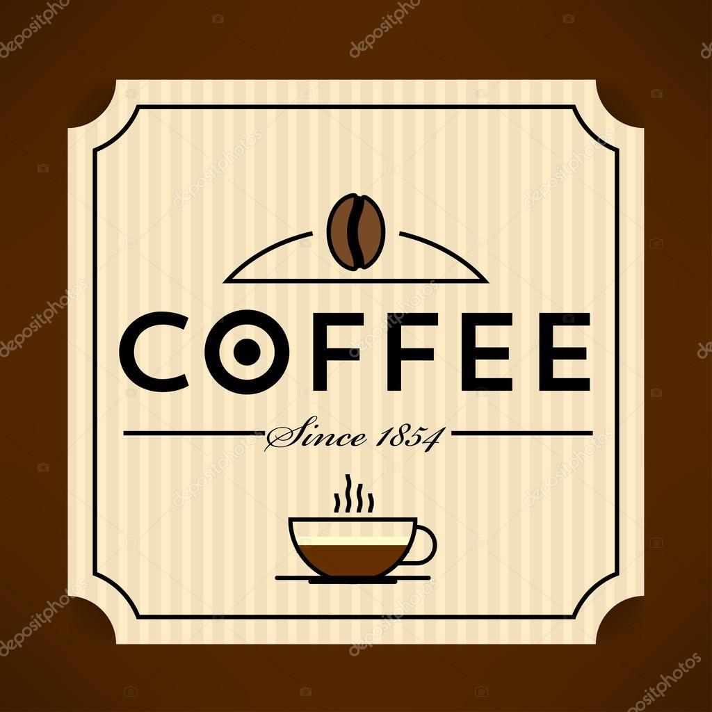 plantilla de etiqueta de café — Vector de stock © kursatunsal #99390230