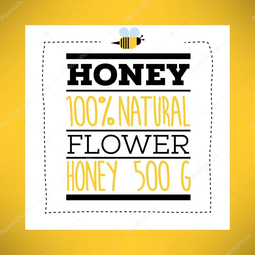 Honig Etiketten Vorlage — Stockvektor © kursatunsal #99390576