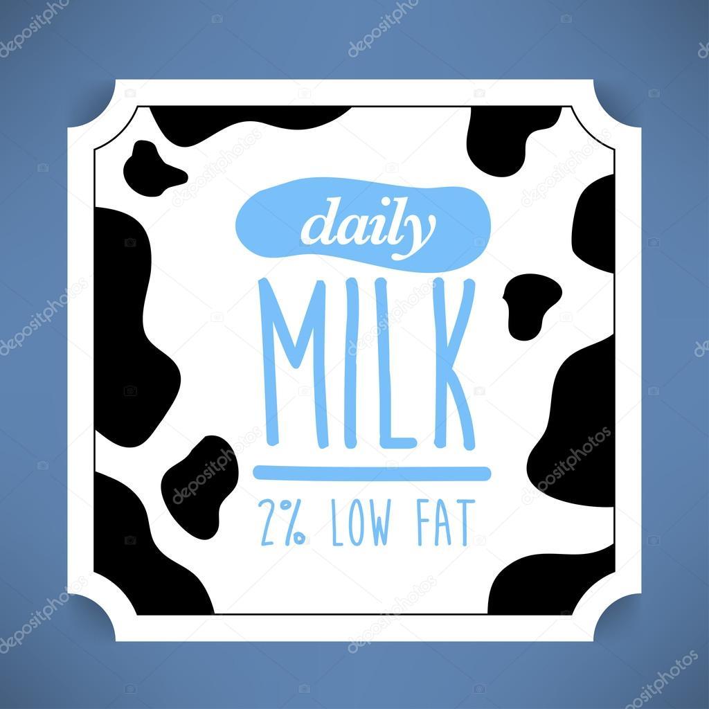 Plantilla de etiqueta de la leche — Vector de stock © kursatunsal ...