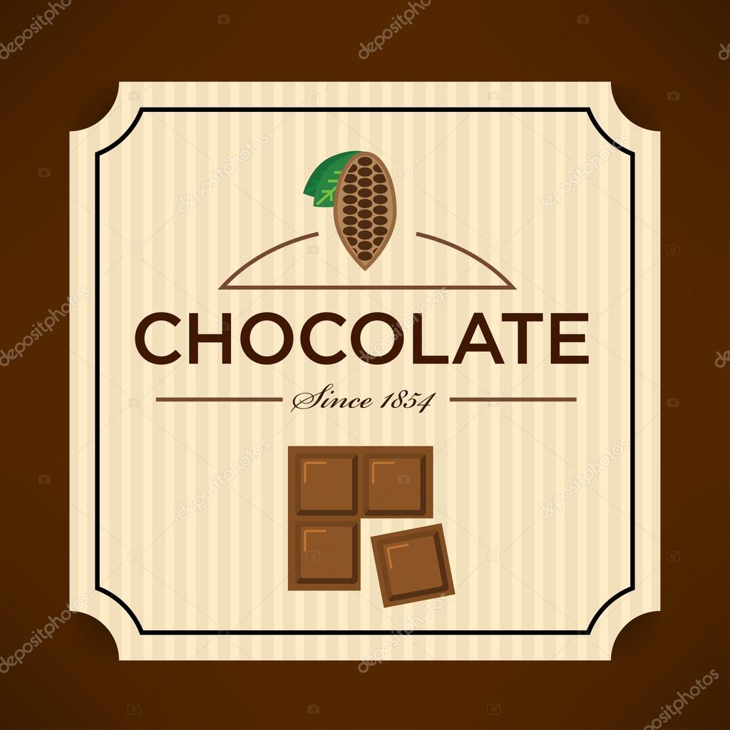 Plantilla de etiqueta de chocolate — Archivo Imágenes Vectoriales ...