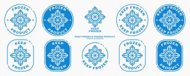 Concept for product packaging. Marking - keep frozen and frozen product. The snowflake icon is a symbol of cold storage of products. Vector set. icon