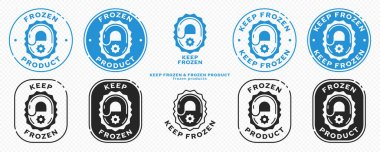 Concept for product packaging. Marking - keep frozen and frozen product. The icon of the lock closing the ice is a symbol of the storage of frozen products. Vector set. icon