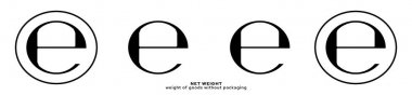 Product packaging marking - product weight without packaging. Net weight symbol. Vector elements. icon