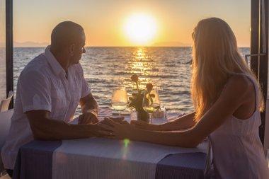 Couple have romantic meet
