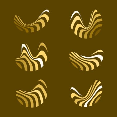 Abstract vector wave logo. Landscape design. Plantation logo. Cu