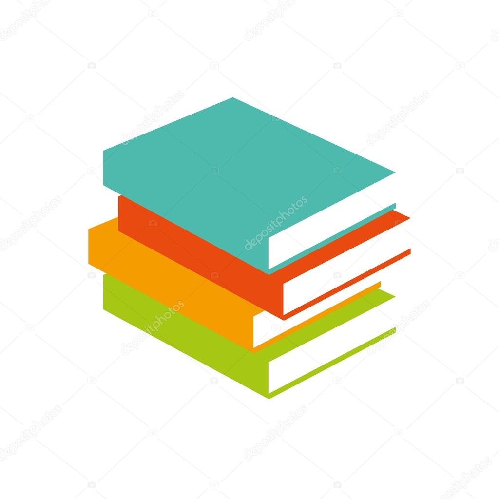 books vector illustrator stack of colored books learning logo rh depositphotos com victor book for boys wanted victor book for boys annual