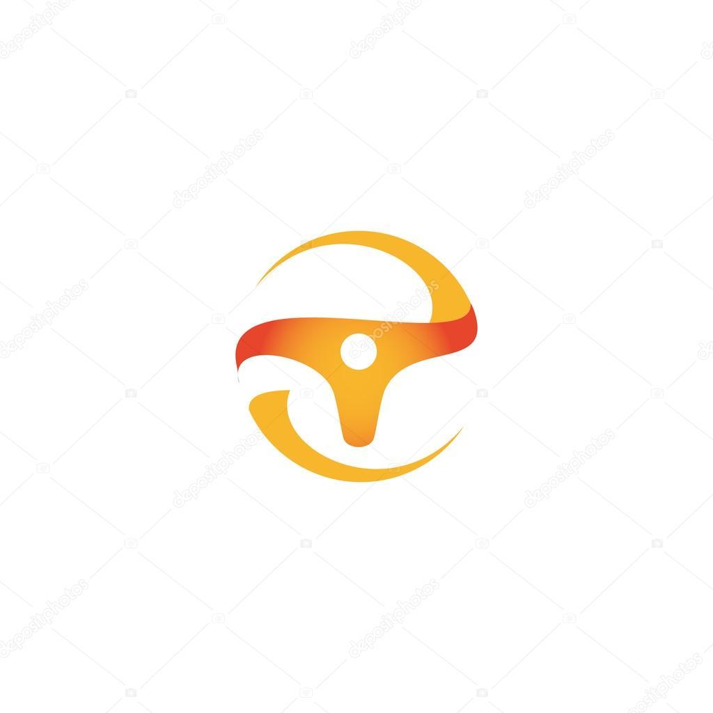 wheel logo vector orange logo car logo taxi logo speedometer