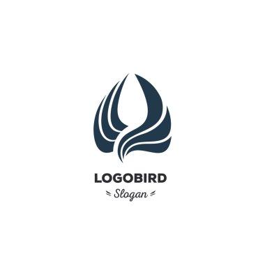 Isolated, cartoon, geek, strict eagle flying, triangular vector shape, minimalism, flat, stylish, geometric stylized logotype, dark color logo template, bird, wings, feathers, eagle element logo.